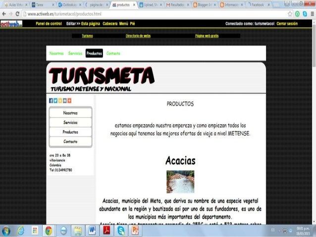 CREACIÓN DE PAGINA WEB EN ACTIWEB Y BLOG EN BLOGGER