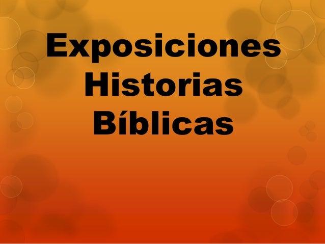 Exposiciones Historias Bíblicas