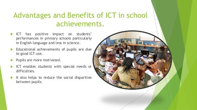 advantages of using ict in learning