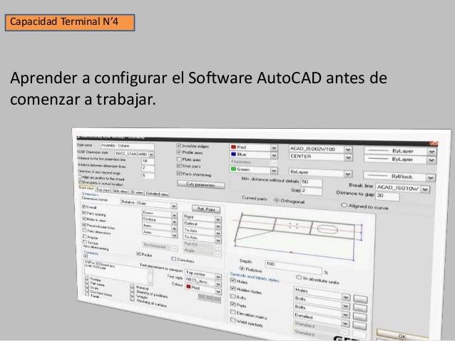 Capacidad Terminal N'5 Aprender a utilizar correctamente las barras de herramientas del AutoCAD.