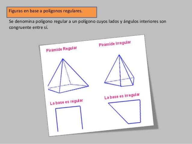 Figuras en base a polígonos regulares. Se denomina polígono regular a un polígono cuyos lados y ángulos interiores son con...