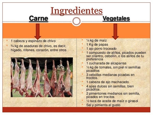 Receta t pica larense mute de chivo for Como cocinar carne de chivo
