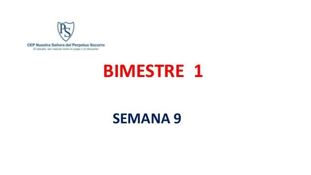 BIMESTRE 1 SEMANA 9