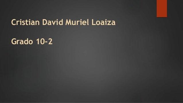 Cristian David Muriel Loaiza Grado 10-2
