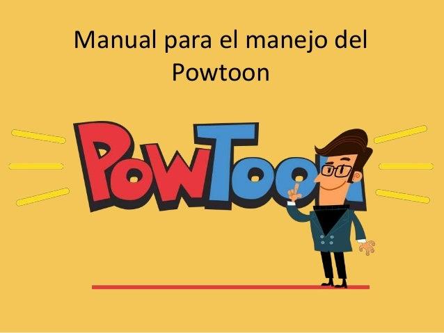 Manual para el manejo del Powtoon