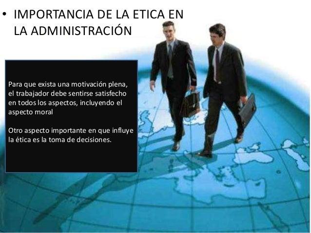 Etica profesional for Importancia de la oficina
