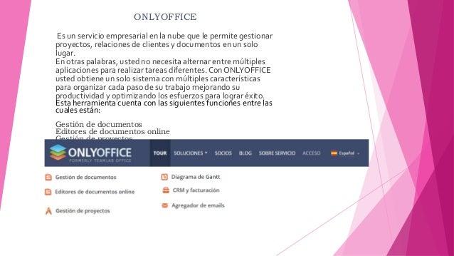 ONLYOFFICE Es un servicio empresarial en la nube que le permite gestionar proyectos, relaciones de clientes y documentos e...