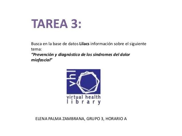 """Busca en la base de datos Lilacs información sobre el siguiente tema: """"Prevención y diagnóstico de los síndromes del dolor..."""