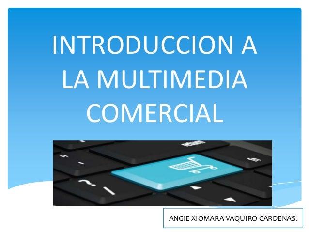 INTRODUCCION A LA MULTIMEDIA COMERCIAL ANGIE XIOMARA VAQUIRO CARDENAS.