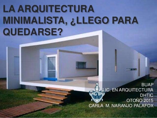 Arquitectura minimalista - Arquitectura minimalista ...