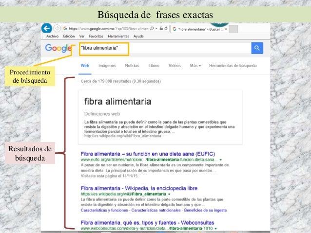 Búsqueda de información en Google Slide 3