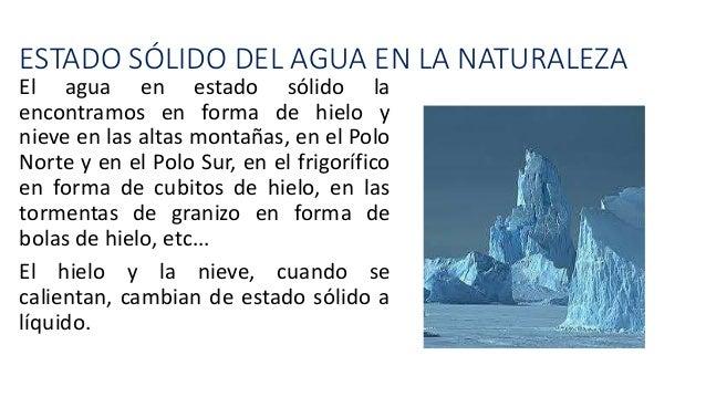 Los Estados Del Agua En La Naturaleza