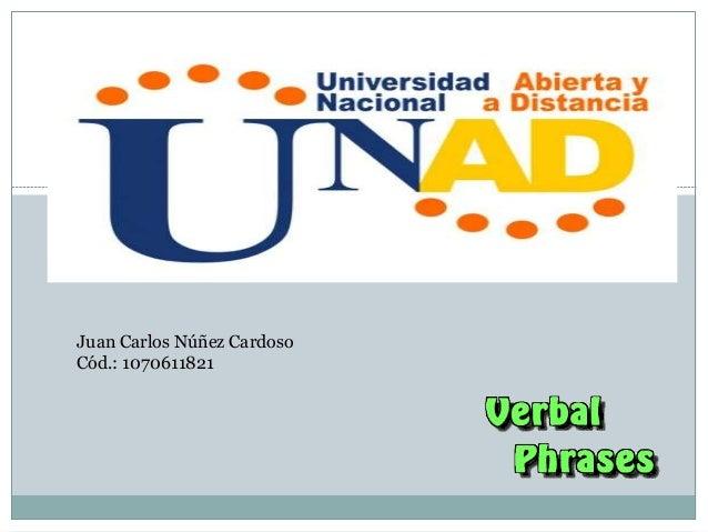 Juan Carlos Núñez Cardoso Cód.: 1070611821