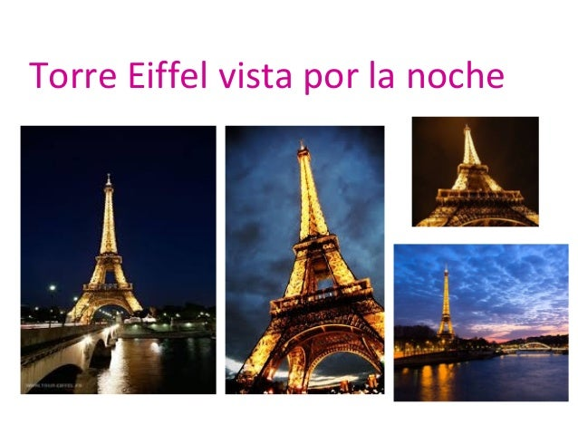 Torre Eiffel vista por la noche