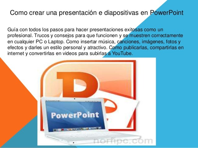 como crear presentacion en diapositivas en power point