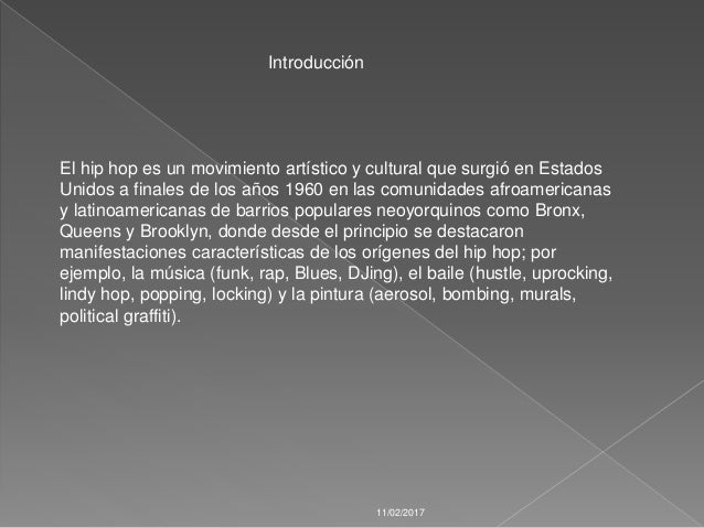 ... 2. El hip hop ...