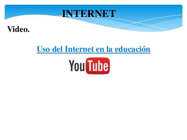 Uso De Internet En La Educacion Cb Acceso Publicaciones Electronicas