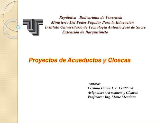 República Bolivariana de Venezuela Ministerio Del Poder Popular Para la Educación Instituto Universitario de Tecnología An...