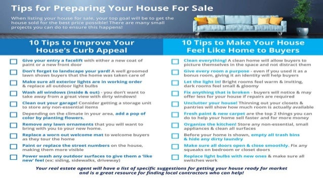 Rockville King Farm MD | 20 Tips for Preparing Your House for Sale [INFOGRAPHIC]