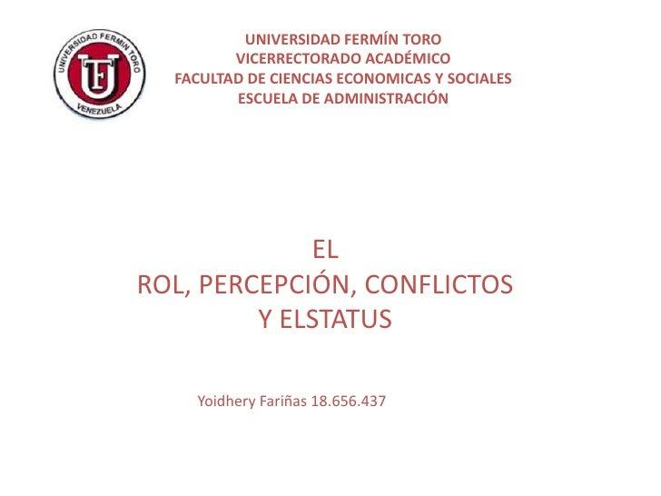 UNIVERSIDAD FERMÍN TORO         VICERRECTORADO ACADÉMICO  FACULTAD DE CIENCIAS ECONOMICAS Y SOCIALES         ESCUELA DE AD...