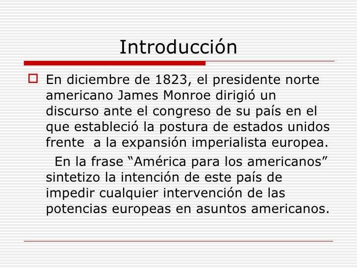 Resultado de imagen para 02 de diciembre 1823: Declaración de la doctrina Monroe: «América para los americanos».