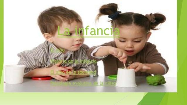 La infanciaEl niñoHistoria de la infanciaEl niño en la sociedadPsicología evolutiva de la niñez