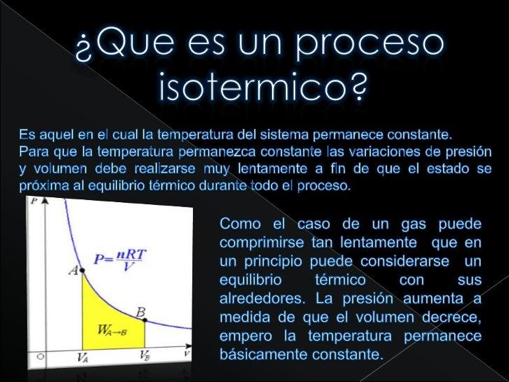 Proceso Termodinamico Isotermico