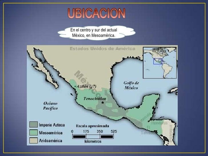 En el centro y sur del actual México, en Mesoamérica.
