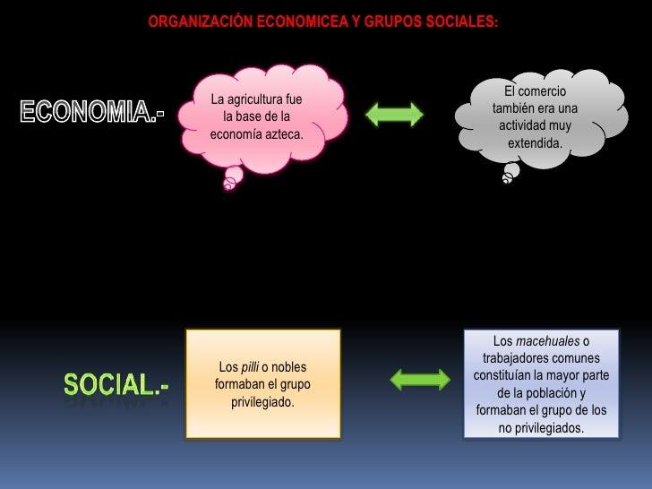 ORGANIZACIÓN ECONOMICEA Y GRUPOS SOCIALES:                                           El comercio       La agricultura fue ...