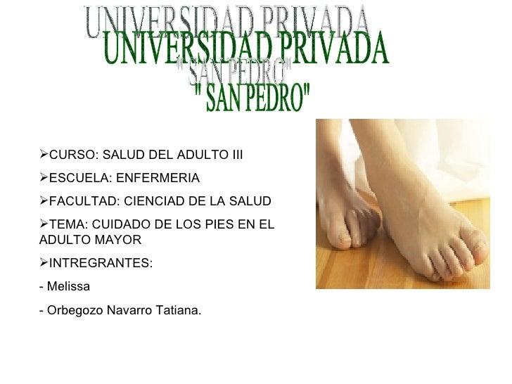 UNIVERSIDAD PRIVADA &quot; SAN PEDRO&quot; <ul><li>CURSO: SALUD DEL ADULTO III </li></ul><ul><li>ESCUELA: ENFERMERIA  </li...