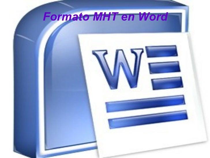 Formato MHT en Word