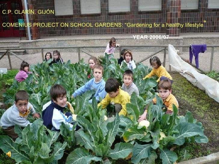 "C.P. CLARÍN. GIJÓN COMENIUS PROJECT ON SCHOOL GARDENS: ""Gardening for a healthy lifestyle "" YEAR 2006/07"