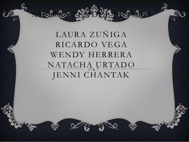 ASPIRANTES DEL FUTURO LAURA ZUÑIGA RICARDO VEGA WENDY HERRERA NATACHA URTADO JENNI CHANTAK