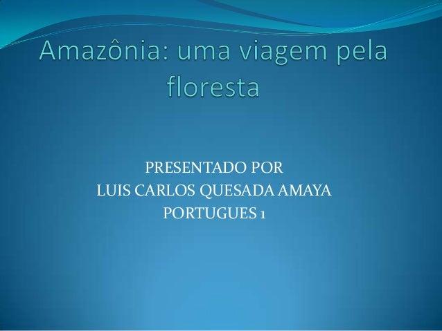 PRESENTADO POR LUIS CARLOS QUESADA AMAYA PORTUGUES 1