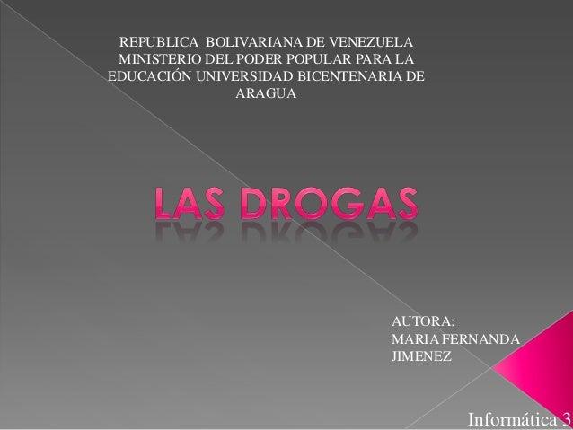 REPUBLICA BOLIVARIANA DE VENEZUELA MINISTERIO DEL PODER POPULAR PARA LA EDUCACIÓN UNIVERSIDAD BICENTENARIA DE ARAGUA  AUTO...