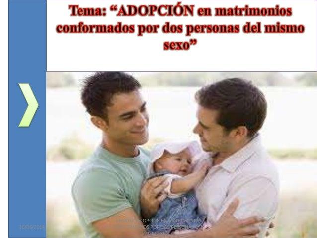Adopcion en parejas gay