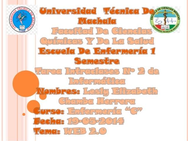 Universidad Técnica De Machala Facultad De Ciencias Químicas Y De La Salud Escuela De Enfermería 1 Semestre Tarea Intracla...