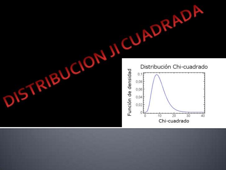 """   Se define a la Distribución Chi Cuadrado    como: """"Aquella distribución denominada    también ji-cuadrado de Pearson, ..."""