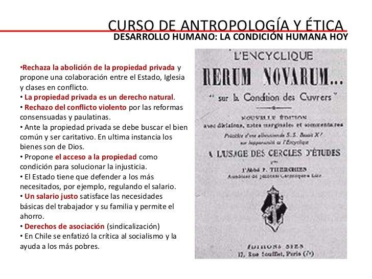 CURSO DE ANTROPOLOGÍA Y ÉTICA                             DESARROLLO HUMANO: LA CONDICIÓN HUMANA HOY•Rechaza la abolición ...