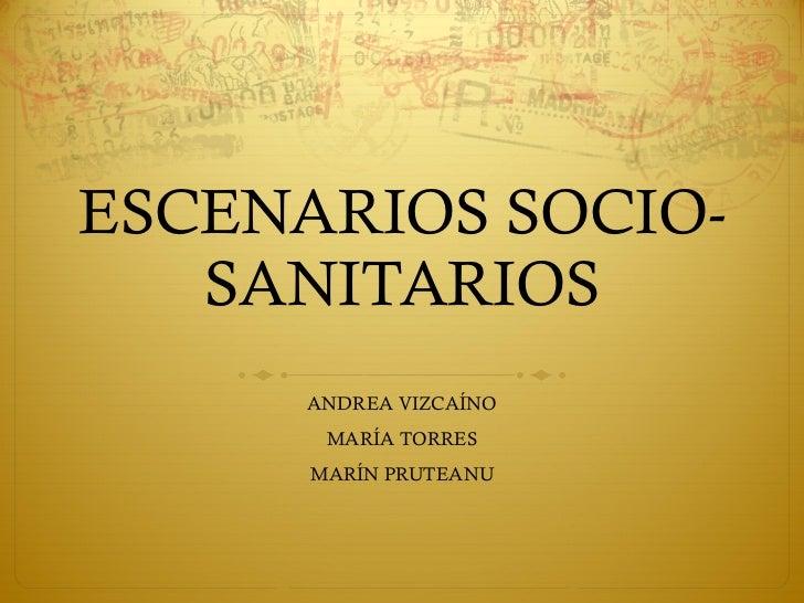 ESCENARIOS SOCIO-SANITARIOS ANDREA VIZCAÍNO MARÍA TORRES MARÍN PRUTEANU