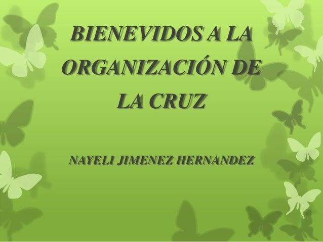 BIENEVIDOS A LA ORGANIZACIÓN DE LA CRUZ NAYELI JIMENEZ HERNANDEZ