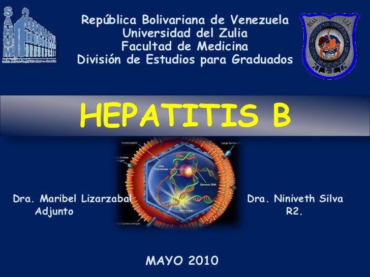 República Bolivariana de Venezuela                    Universidad del Zulia                    Facultad de Medicina       ...