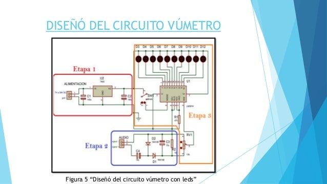 Circuito Vumetro : Proyecto final amplificaciÓn y acondicionamiento de seÑales