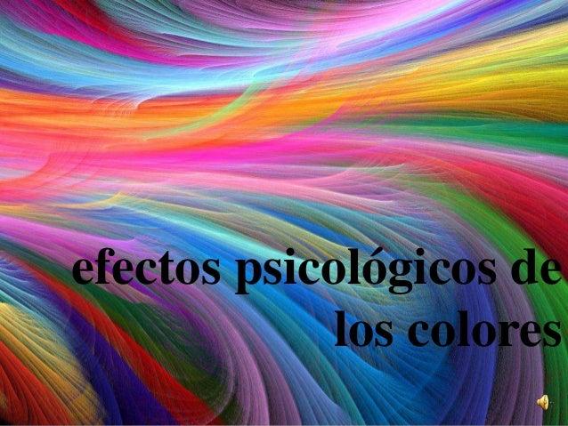 efectos psicológicos de los colores