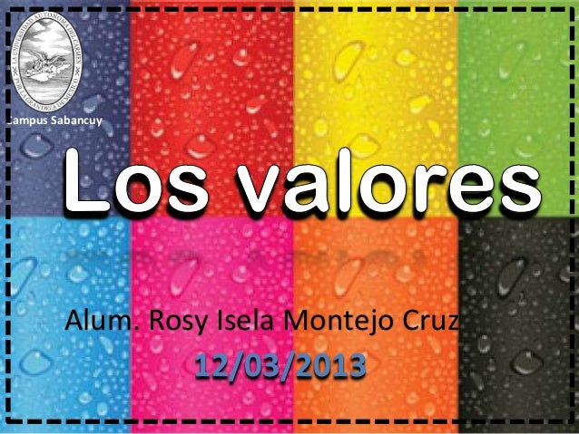Alum. Rosy Isela Montejo Cruz12/03/2013Campus Sabancuy