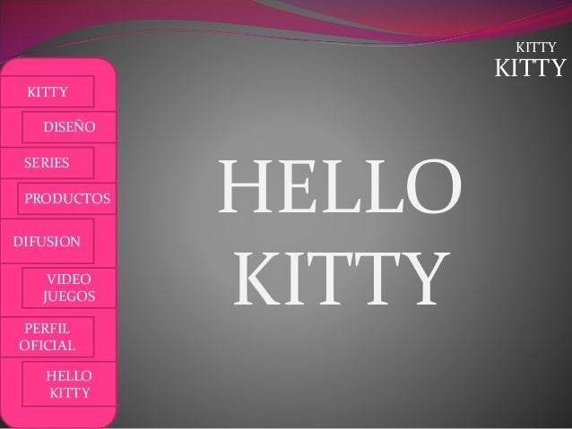 KITTY KITTY DISEÑO SERIES PRODUCTOS DIFUSION VIDEO JUEGOS PERFIL OFICIAL HELLO KITTY KITTY HELLO KITTY