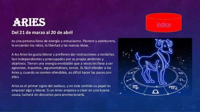 Signos zodiaco - Primer signo del zodiaco ...