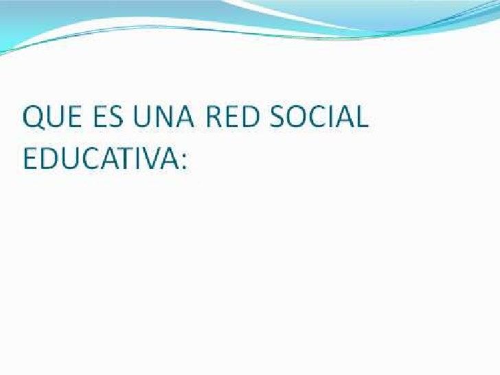 REDES SOCIALES DUCATIVAS