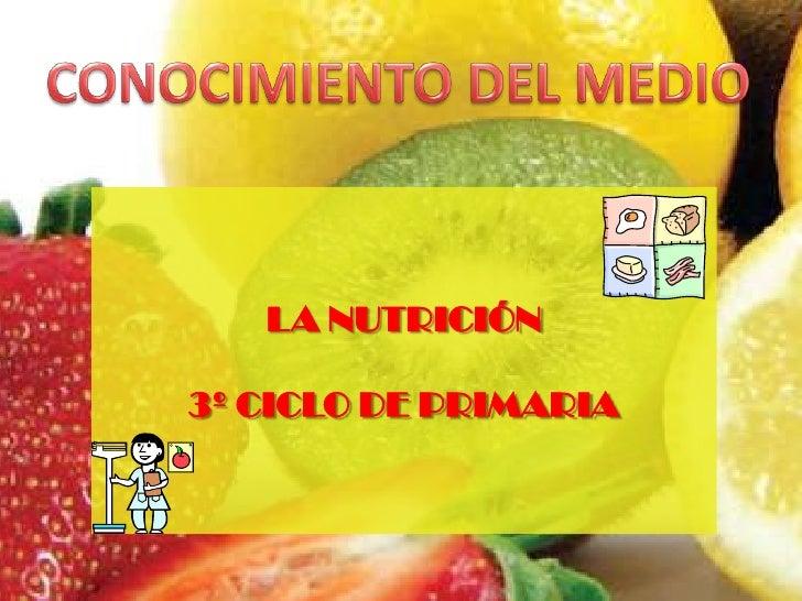 LA NUTRICIÓN  3º CICLO DE PRIMARIA