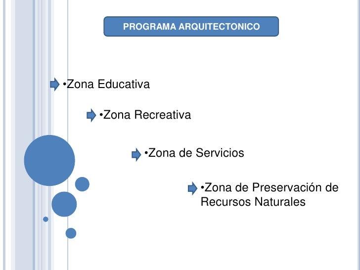 Programa arquitectonico de un parque ecologico for Programa de necesidades arquitectura